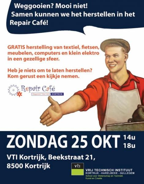 affiche repair cafe okt 2015
